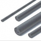 Sintered rods with 2 straight coolant hole